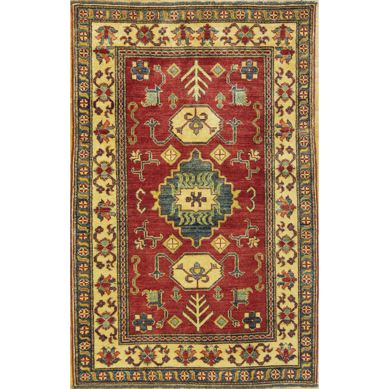 65318 KAZAK WOOL TRADITIONAL RUG 3'7''X5'7''