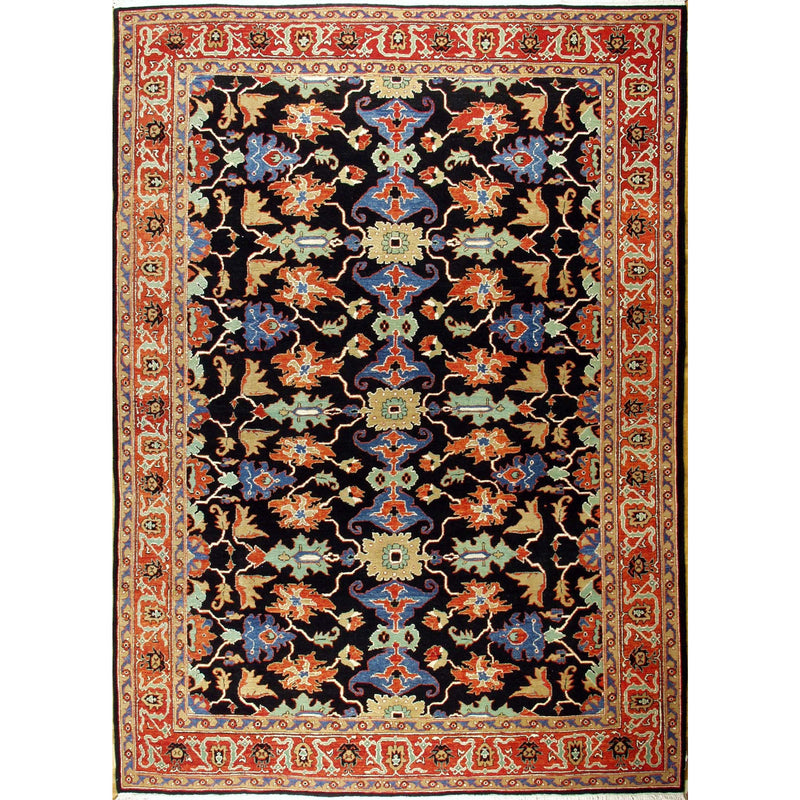 65331 AZERI WOOL TRADITIONAL RUG 9'X12'4''