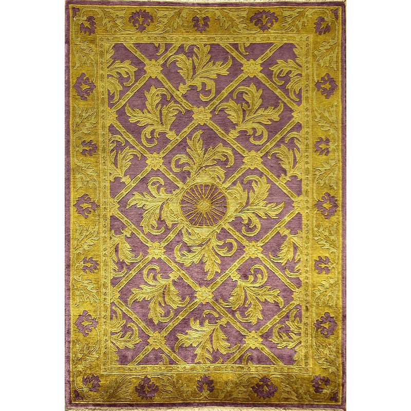 65335 NEPALI MODERN WOOL CONTEMPORARY RUG 4'X6'