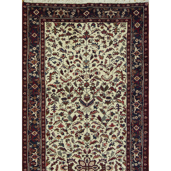 65339 VINTAGE HERIZ WOOL TRADITIONAL RUG 4'9''X12'4''