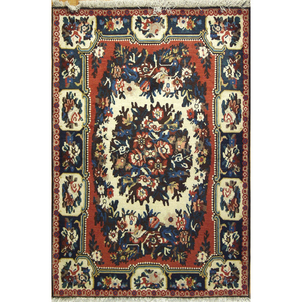 65342 BAKHTIARI WOOL TRADITIONAL RUG 3'5''X5'