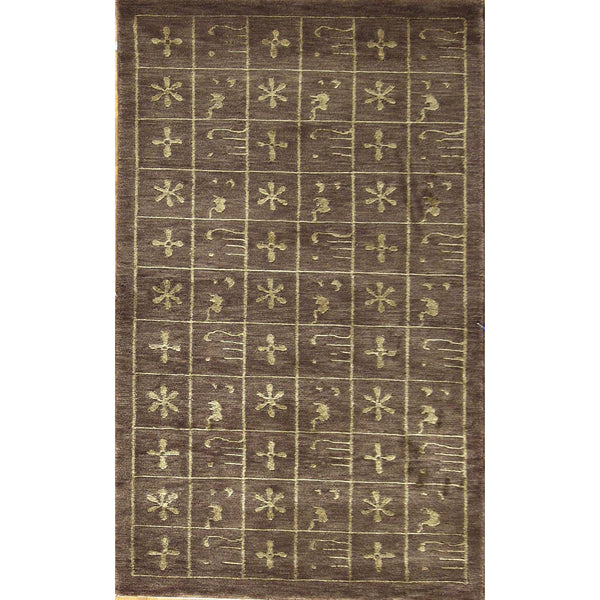 65348 NEPALI MODERN WOOL CONTEMPORARY RUG 3'X5'