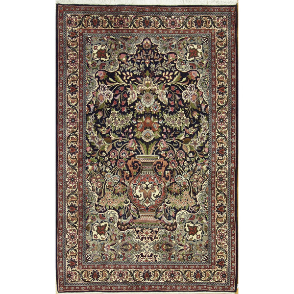 65350 TREE OF LIFE BIJAR WOOL TRADITIONAL RUG 3'8''X5'9''