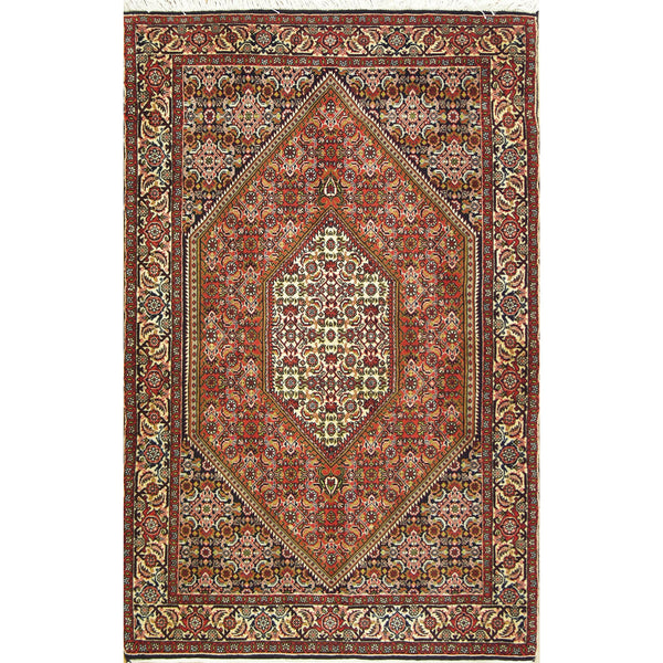 65351 DIAMOND BIJAR WOOL TRADITIONAL RUG 3'7''X5'6''