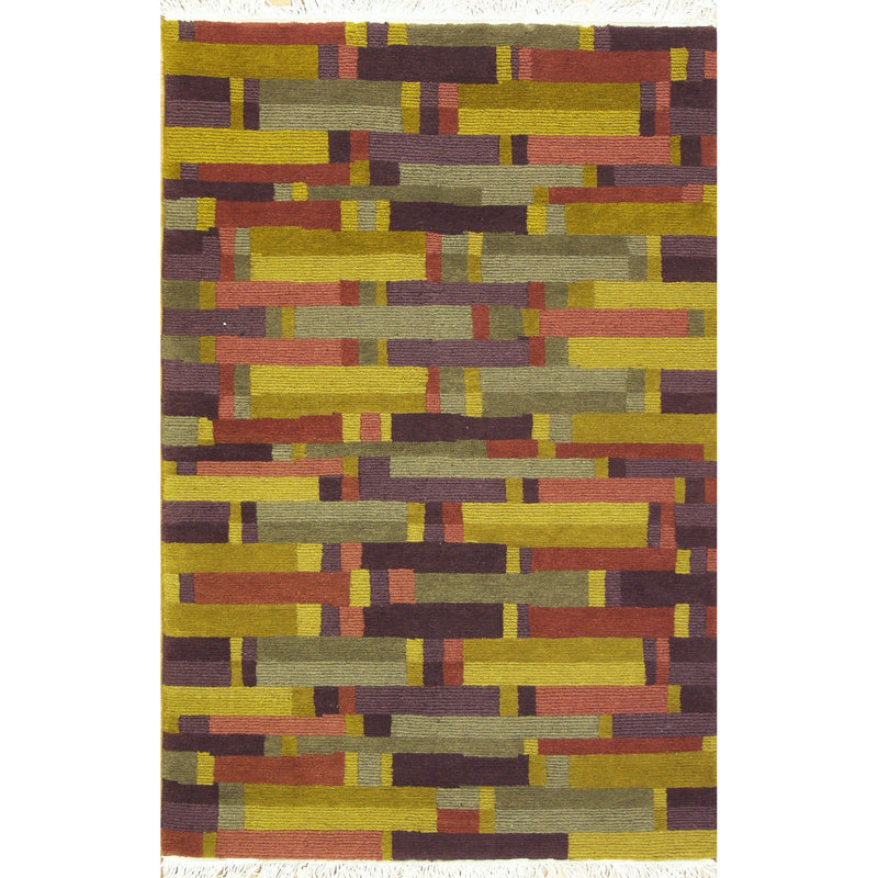 65353 NEPALI MODERN WOOL CONTEMPORARY RUG 4'X6'