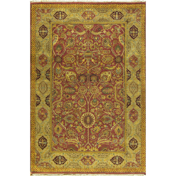 65354 MAHAL WOOL TRADITIONAL RUG 4'X6'