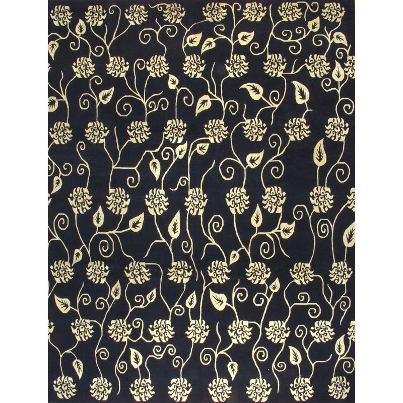 65356 NEPALI MODERN WOOL CONTEMPORARY RUG 9'X12'