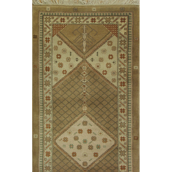 65368 OUSHAK WOOL TRADITIONAL RUG 3'8''X12'5''