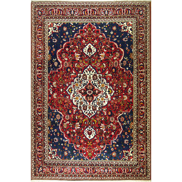 65374 MEDALLION BAKHTIARI WOOL TRADITIONAL RUG 8'7''X13'