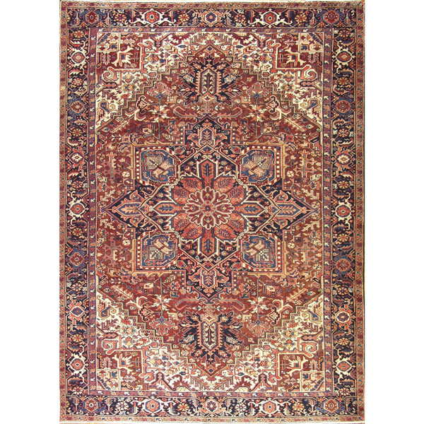 65375 VINTAGE HERIZ WOOL TRADITIONAL RUG 9'X12'