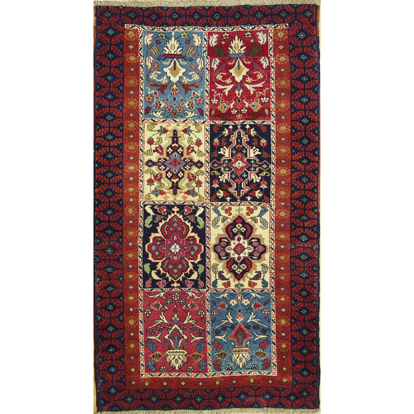 65378 FINE BELOUCHI WOOL TRADITIONAL RUG 3'5''X5'