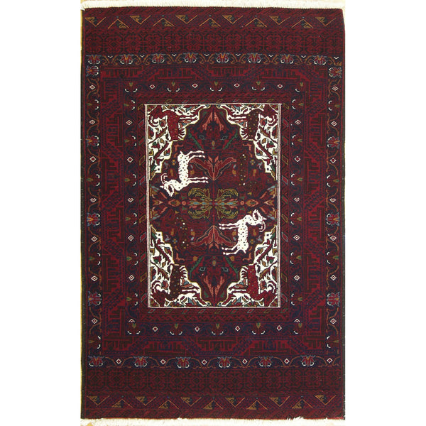 65381 BELOUCHI WOOL TRADITIONAL RUG 3'6''X6'