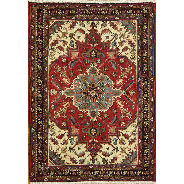 65382 VINTAGE HERIZ WOOL TRADITIONAL RUG 3'X6'