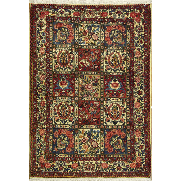 65384 BAKTIARI WOOL TRADITIONAL RUG 4'X5'
