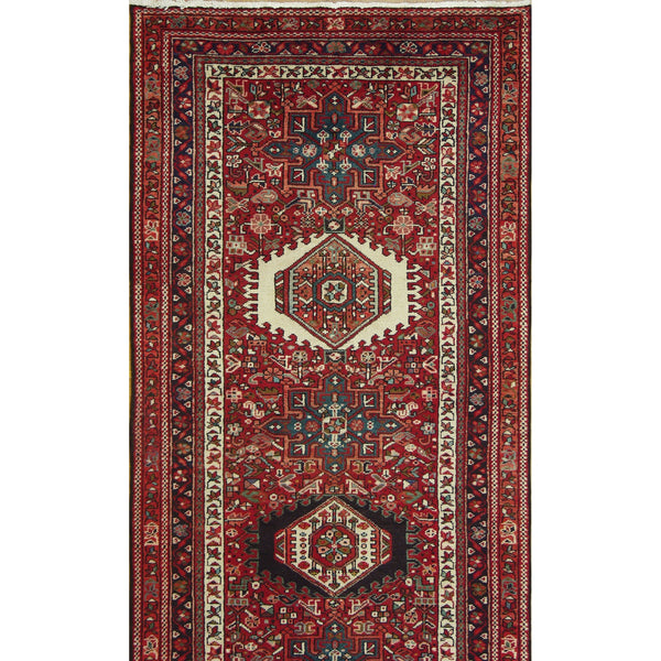 "65386 ANTIQUE GHARAJEH WOOL TRADITIONAL RUG 3'5""X9'3"""