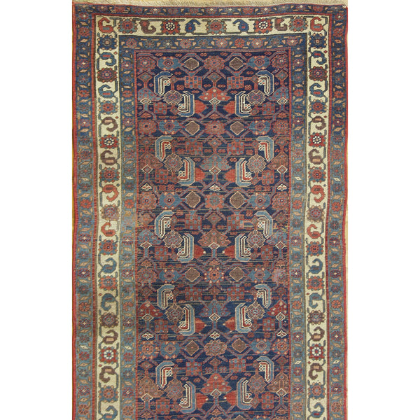 65387 ANTIQUE BIDJAR HERATI WOOL TRADITIONAL RUG 3'9''X14'9''