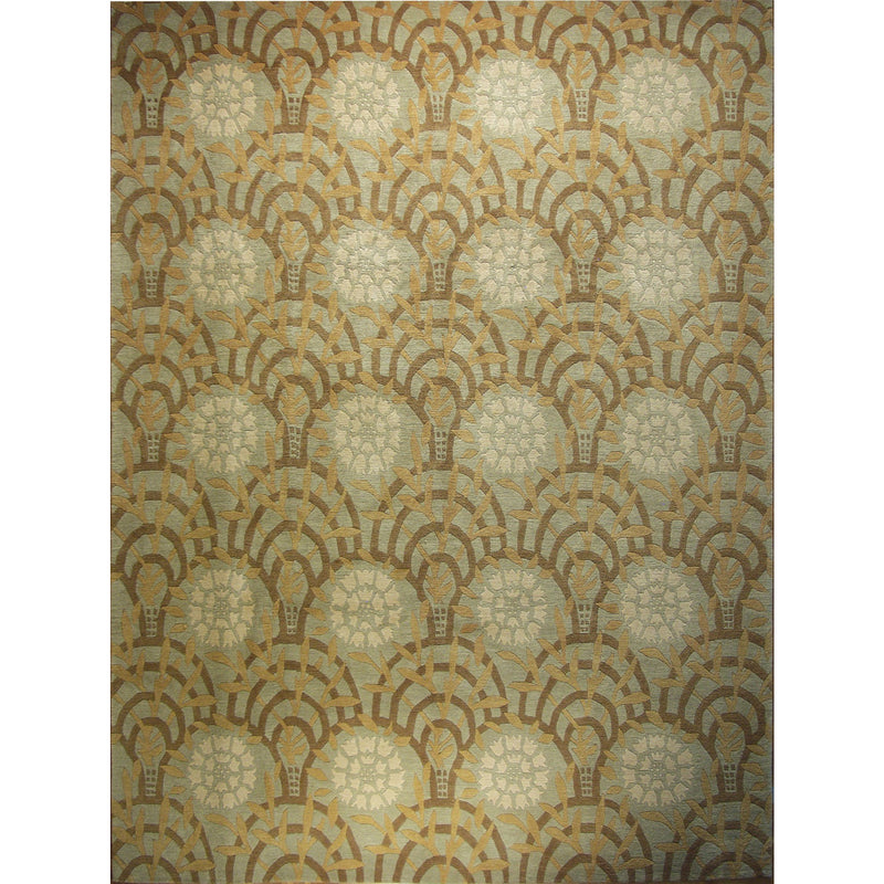 65425 NEPALI MODERN WOOL CONTEMPORARY RUG 9'X12'