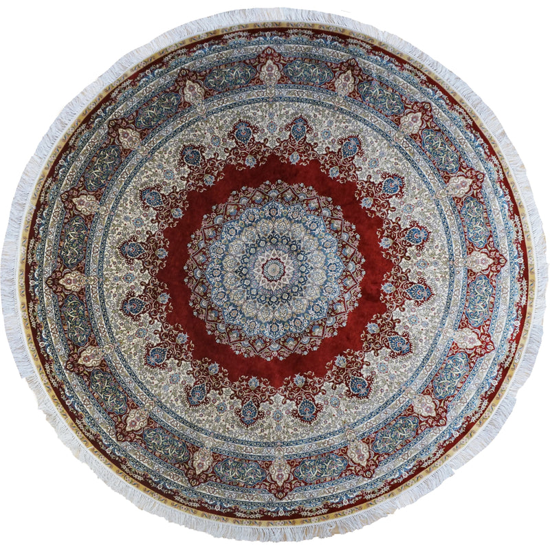 ROJA ROUND ROYAL SILK AREA RUG