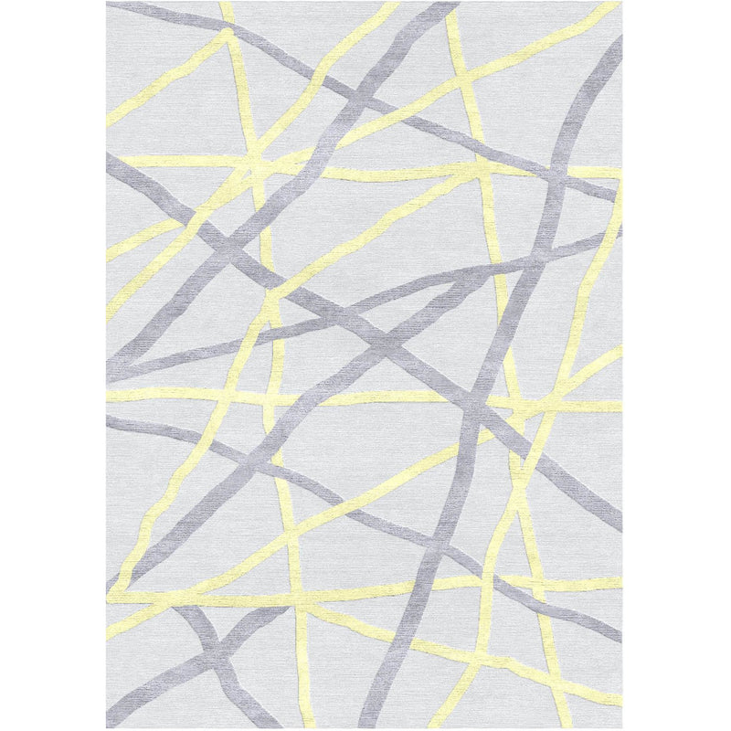 Stripe Abstract White Custom Area Rug