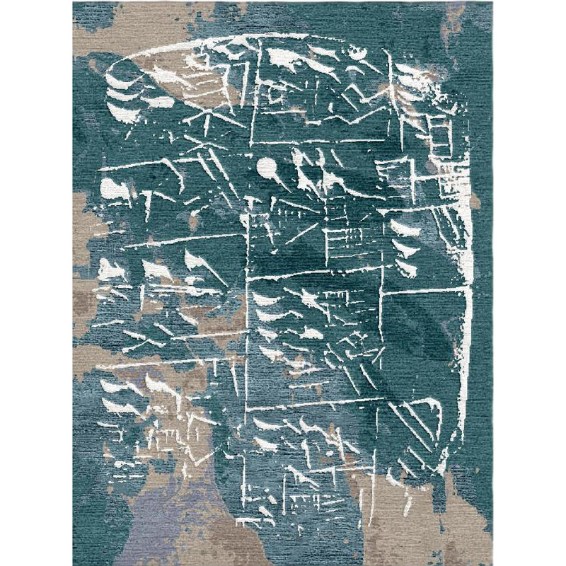 Sumerian Secret Blue Custom Area Rug