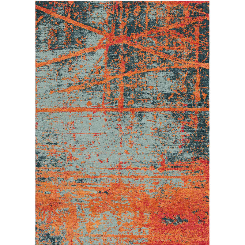 Texture Orange Custom Area Rug