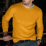JODIMITTY Men Wool Knitted Warm O Neck