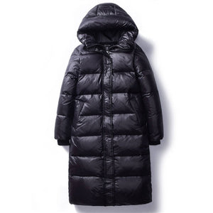 Women's Long Parkas Slim Hooded Warm Winter Coats