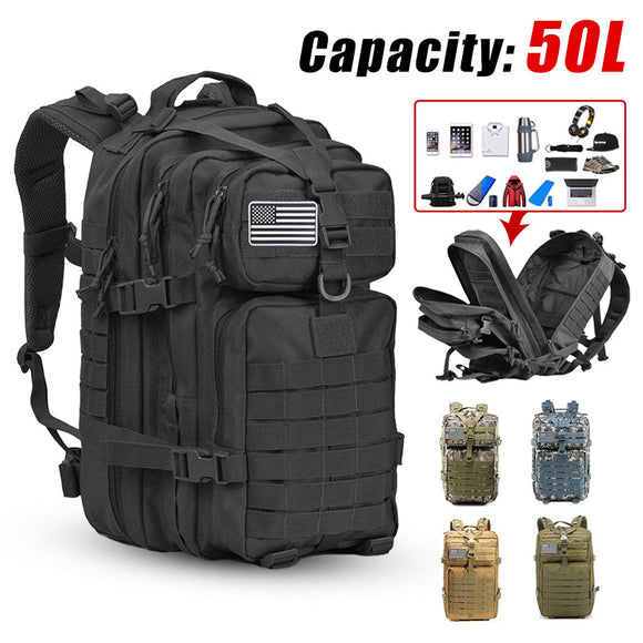 Army Military Tactical Backpack 3P Softback Outdoor Waterproof