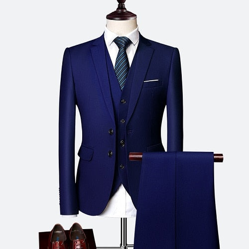 3 Piece Set Business Men's Suits