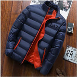Solid Colour Stand Collar Long Sleeve Warm Cotton Quilted Coat