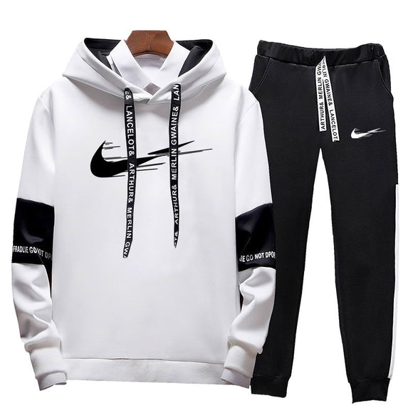 Fashion Print Men Hoodies Suits Brand Tracksuit Men