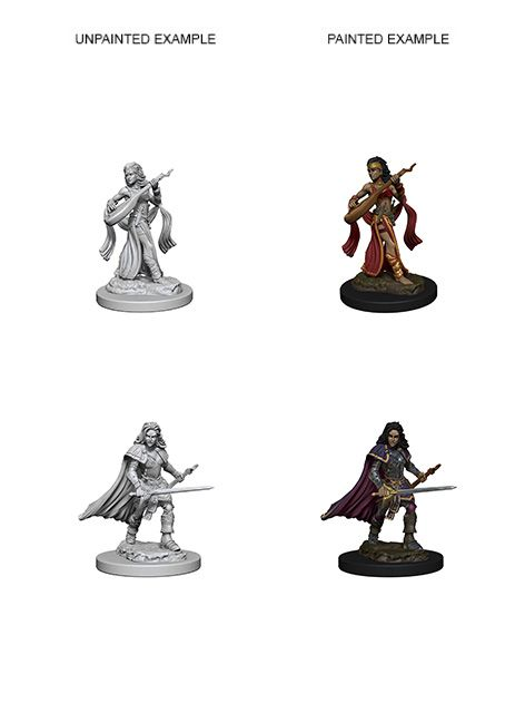 Human Female Bard Pathfinder Miniature | Games Portal