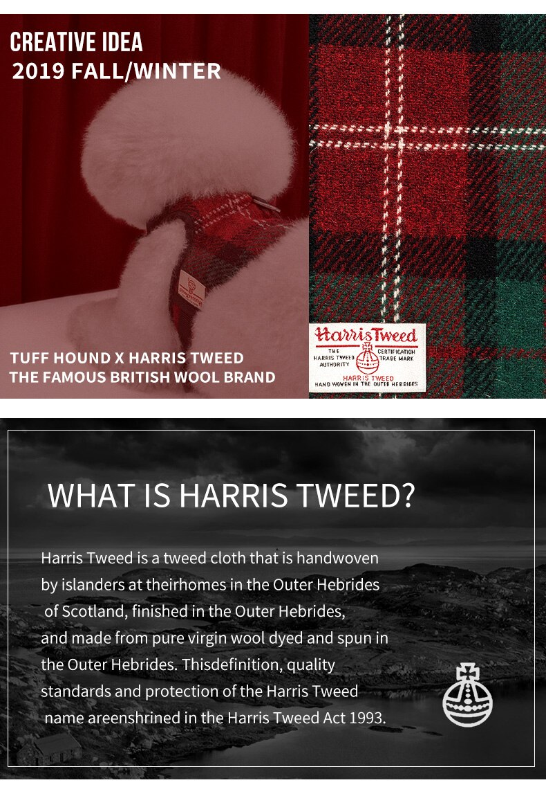 THE TARTAN: HARRIS TWEED Quick Release Harness