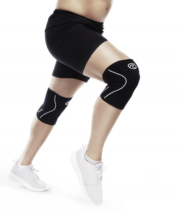 REHBAND - THE RX KNEE SLEEVES 3mm BLACK/WHITE ( Single).