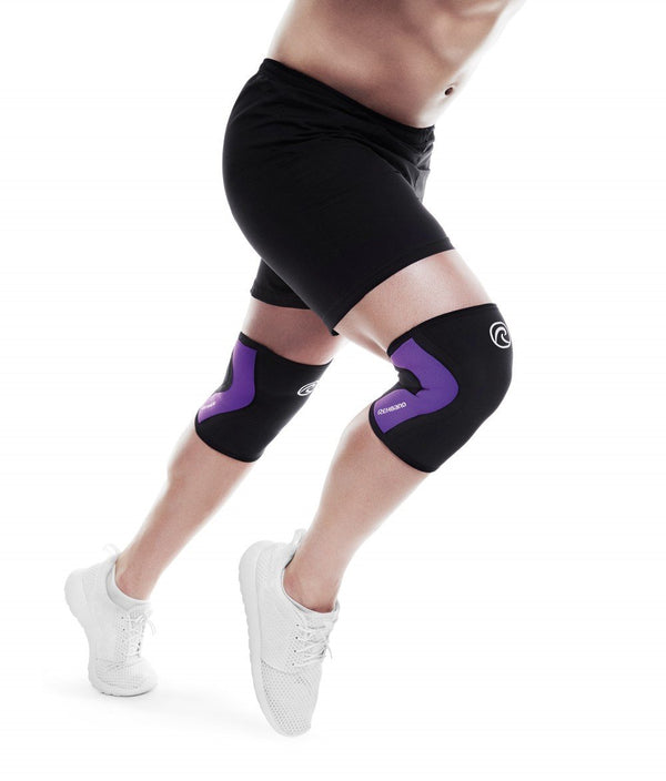 REHBAND - THE RX KNEE SLEEVES 3mm BLACK/PURPLE ( Single) - myworkoutgear