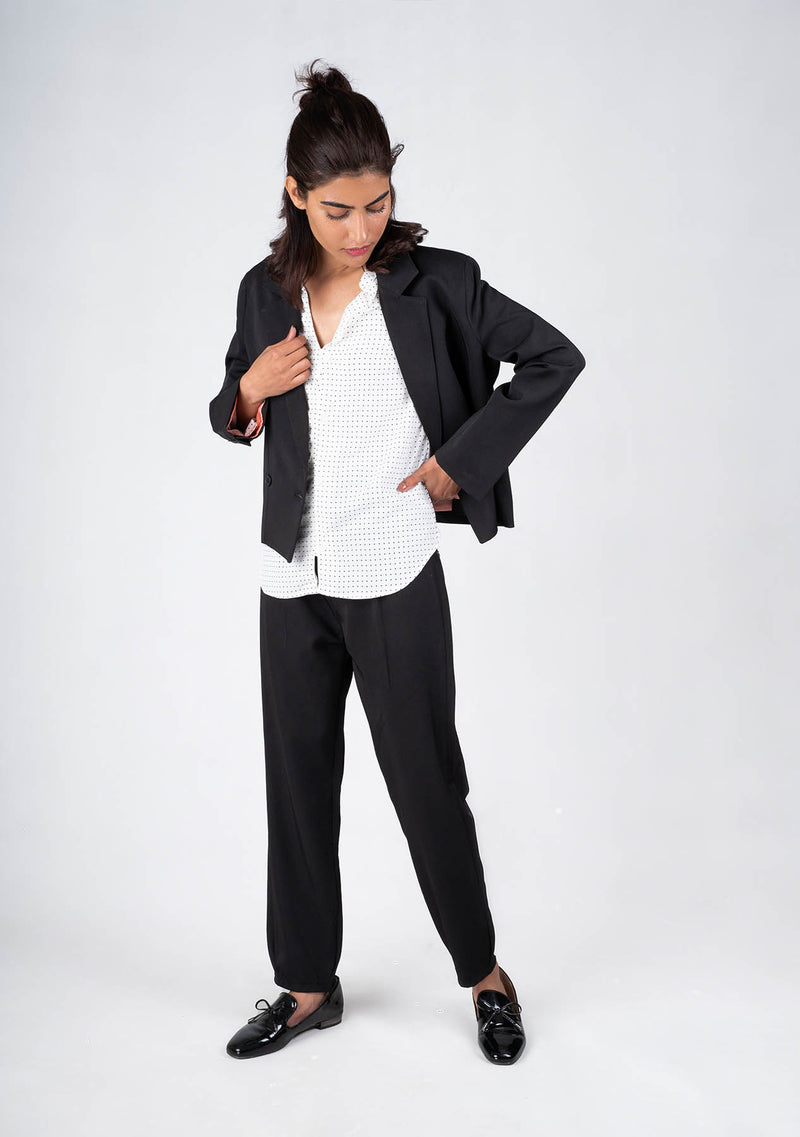 Cropped Blazer in Black