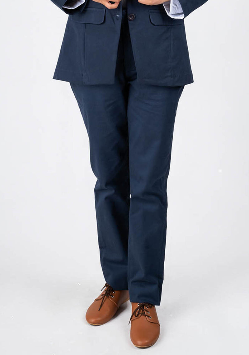 Straight Pant in Navy Blue