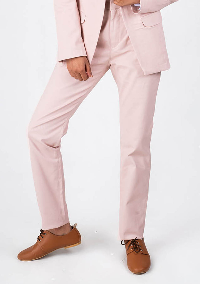 Straight Pant in Light Pink