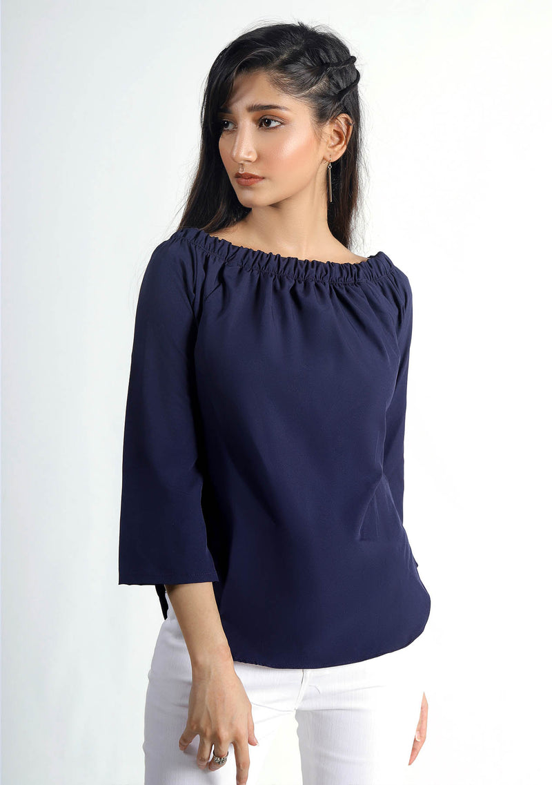 Off Shoulder Top in Blue