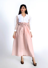 Paper Bag Skirt - Light Pink