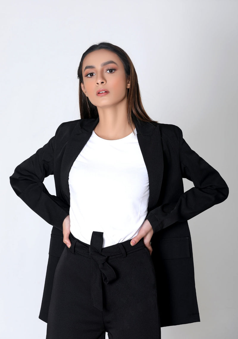 Long Blazer in black