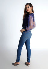 Skinny Jeans in mid blue