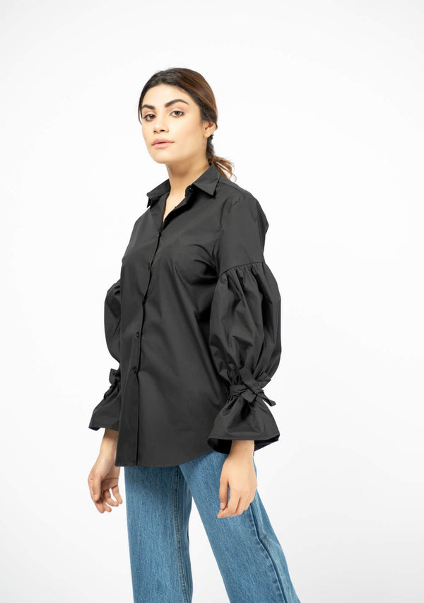 Women balloon sleeve shirt - Western shirt