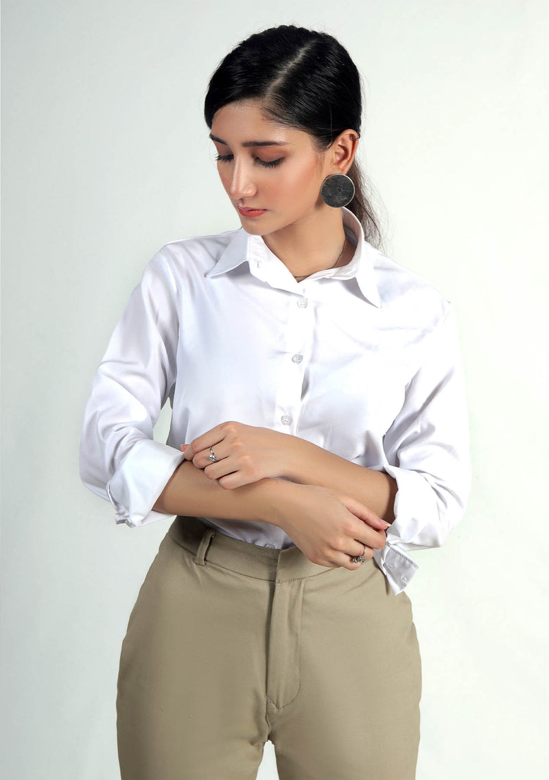 Button Down Shirt - White