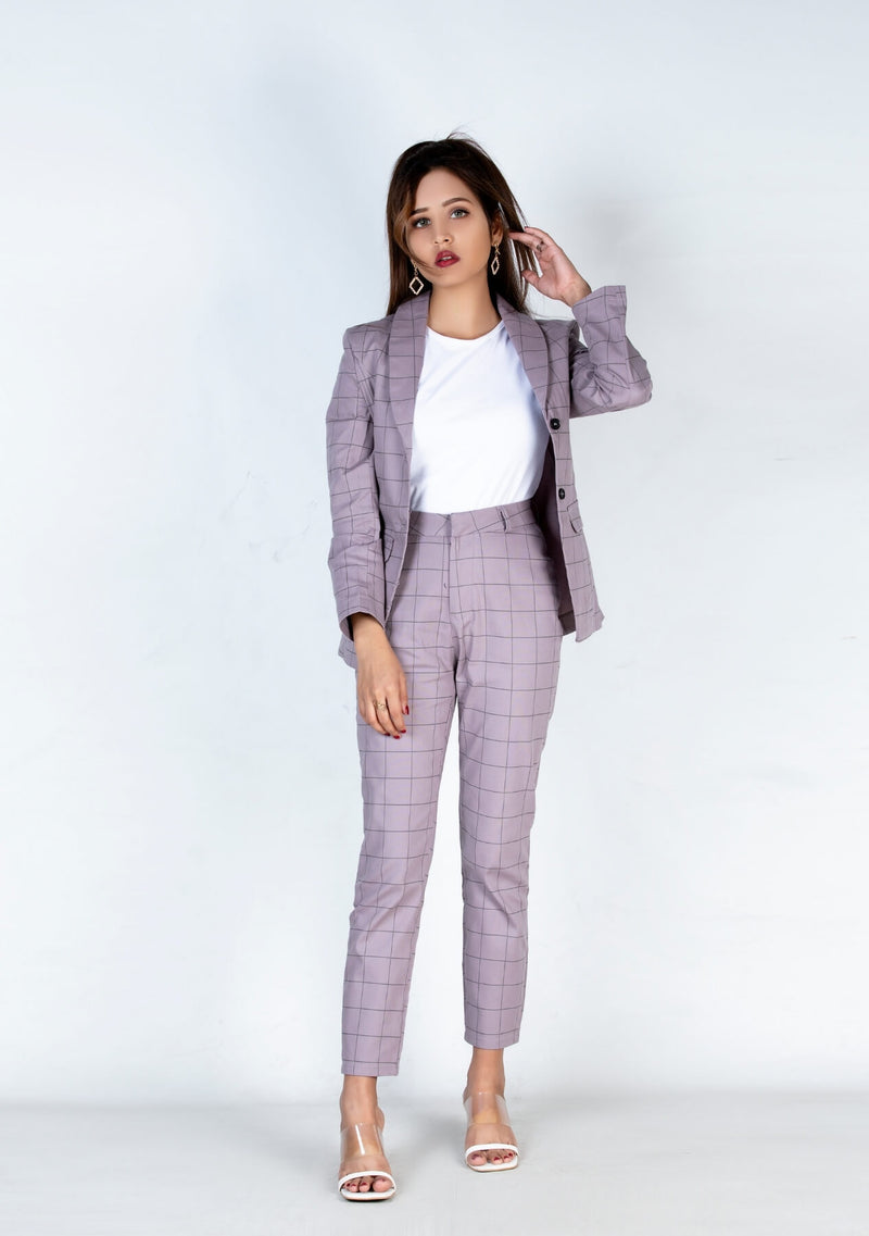 Blazer in mauve check