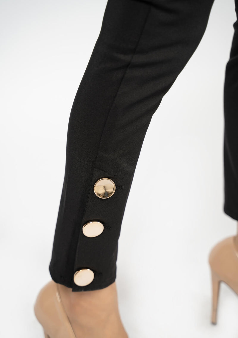 Side Slit Pant - Black