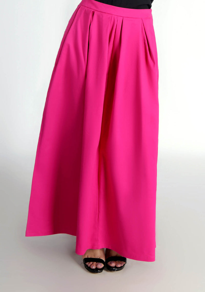Pleated Skirt in Hot Pink