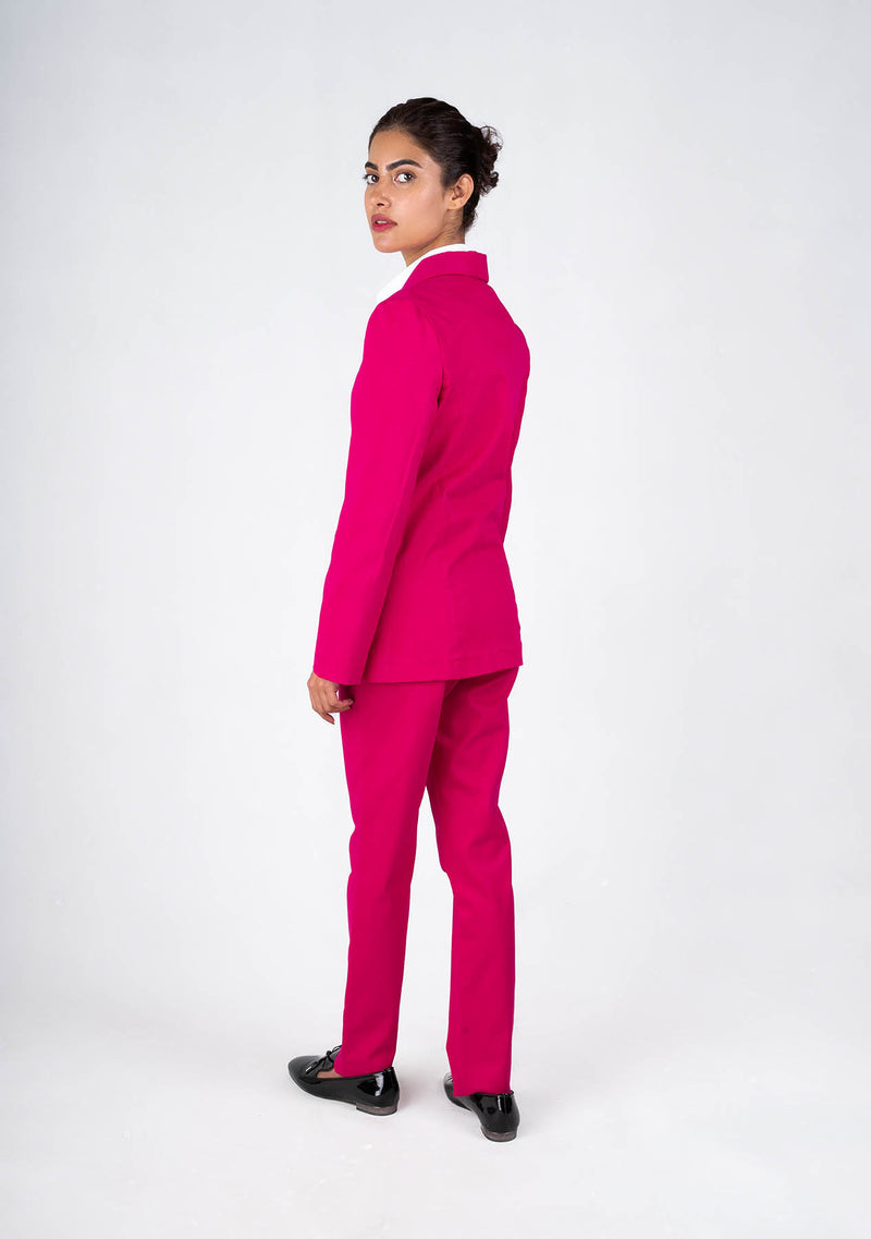 Straight Pant in Hot Pink