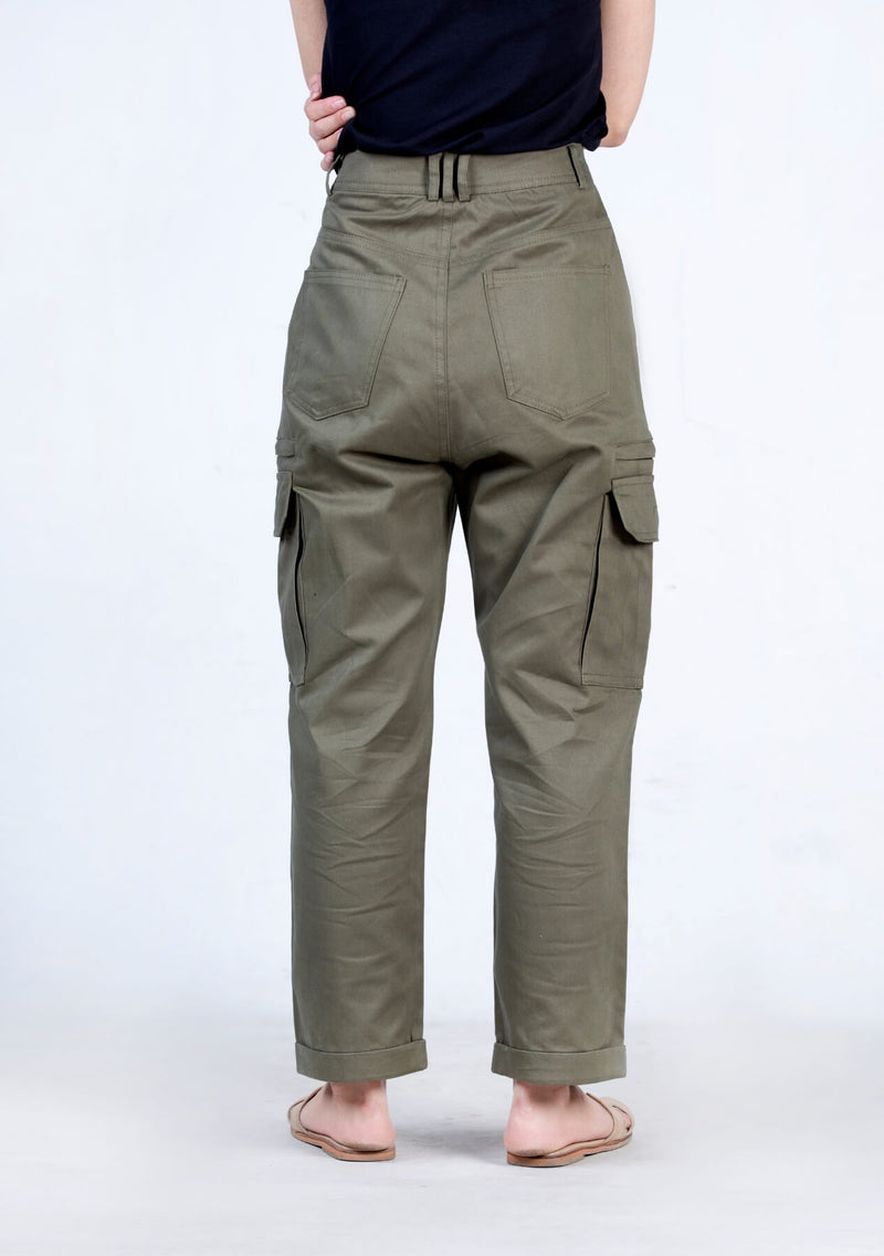 3 Pleated Cargo Pant - green