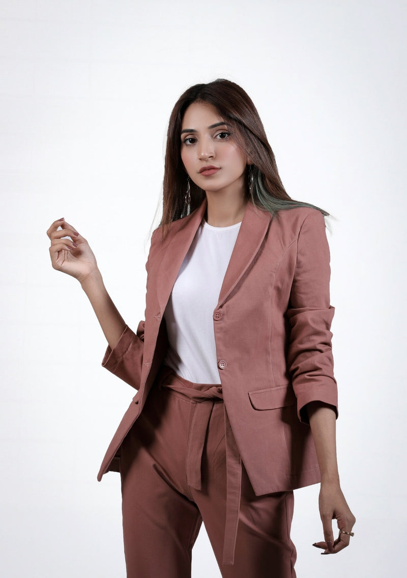 Blazer in tea pink